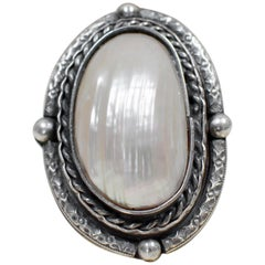 Jill Garber Grande  Mother of Pearl Goddess Ring