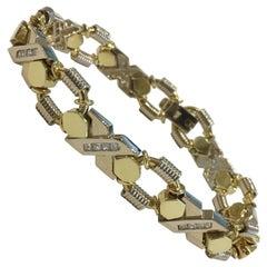 X's & O's Love 18 Karat Yellow Gold Diamonds Bracelet 1 Carat G-H, VS-SI