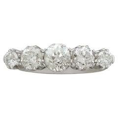 1930s 1.67 Carat Diamond White Gold Platinum Set Dress Ring