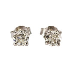 Art Deco Diamond Stud Earrings