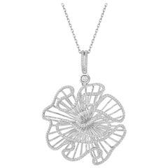 Fei Liu White Rhodium Large Size Necklace