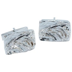 Contemporary Cufflinks in Sterling Silver