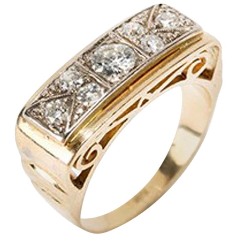 bace0840a024 Gold Ring with Diamonds