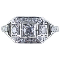 Art Deco Diamantring, circa 1930