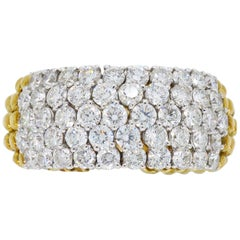 18 Karat Gold 2.50 Carat Movable Diamond Ring