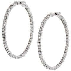 Diamond Inside Out Extra Large Hoop Earrings