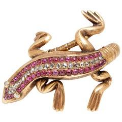 Codognato Salamander Ruby Diamond Bracelet