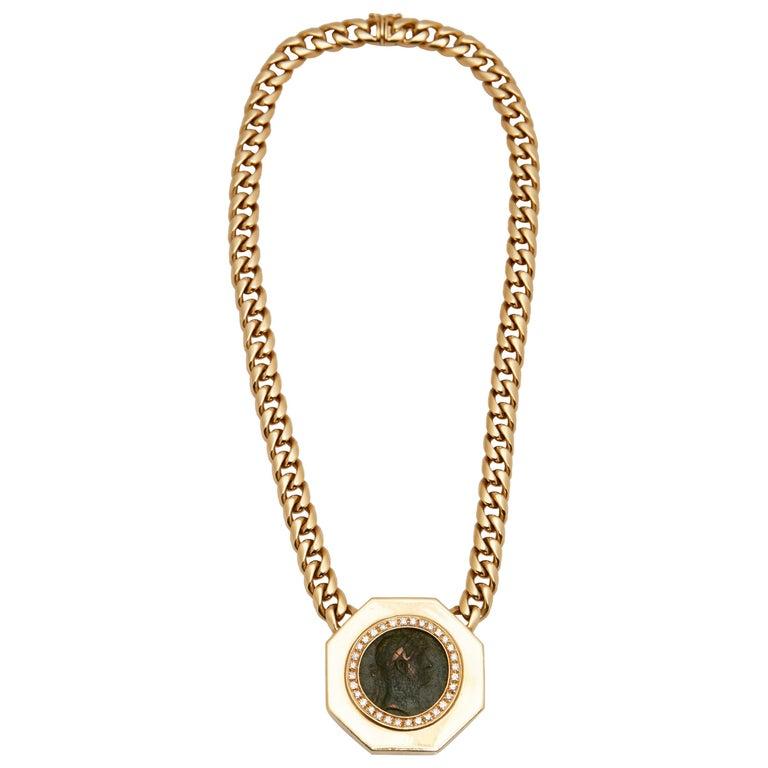 Bulgari Monete Gold Antike Münze Halskette Im Angebot Bei 1stdibs