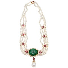 Ruby Multi-Strand Necklaces