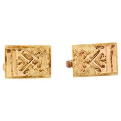 Gold Anchor Cufflinks