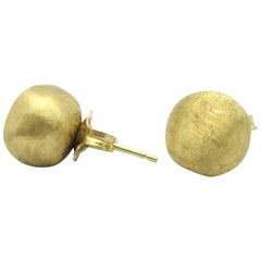 Marco Bicego Africa Textured Ball Stud Earrings Small