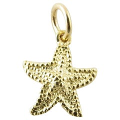 14 Karat Yellow Gold Starfish Charm
