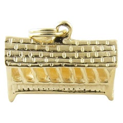 14 Karat Yellow Gold Covered Bridge Charm
