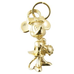 14 Karat Yellow Gold Minnie Mouse Charm