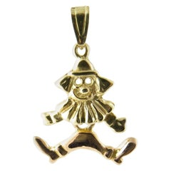 14 Karat Yellow Gold Articulated Clown Charm