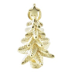 14 Karat Yellow Gold Christmas Tree Charm