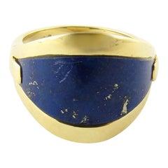 18 Karat Yellow Gold and Genuine Blue Lapis Ring