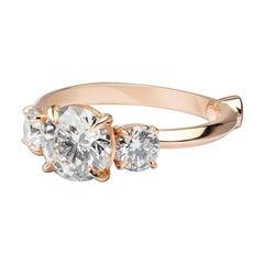 GCAL Certified 18K Rose Gold & 2.18 ctw Diamond Venus Engagement Ring by Alessa