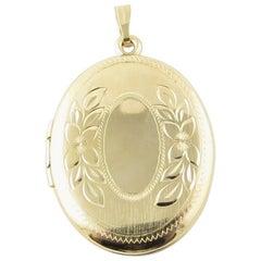 14 Karat Yellow Gold Locket Pendant