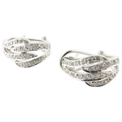 14 Karat White Gold and Diamond Earrings