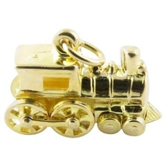 14 Karat Yellow Gold Steam Engine Charm