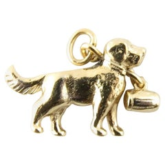 14 Karat Yellow Gold St. Bernard Dog Charm