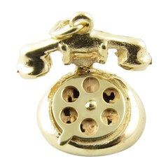 14 Karat Yellow Gold Rotary Dial Telephone Charm