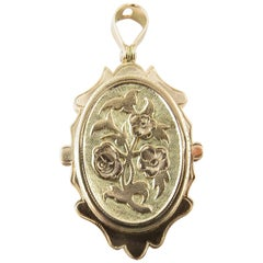 10 Karat Yellow Gold Locket Pendant