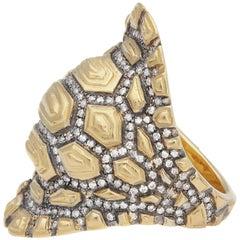 Venyx 9 Karat Gold and Diamond Madagascar Cocktail Ring