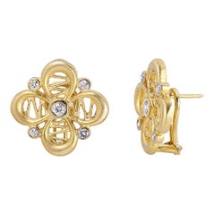 Tanya Farah Diamond Passion Flower Earrings