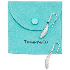 18 Karat White Gold Tiffany & Co. Frank Gehry Fish Drop Diamond Earrings