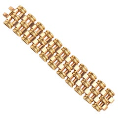 18 Karat Yellow and Pink Gold Retro Bracelet