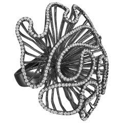 Fei Liu Black Rhodium Large Size Ring