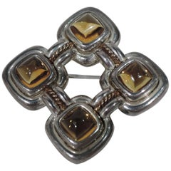 Contemporary American Nautical Knotwork Citrine Brooch by Tiffany & Co.