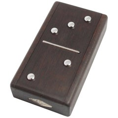 Rare Van Cleef & Arpels Small Domino Wood Clock