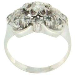 Diamonds 18 Karat White Gold Engagement Ring