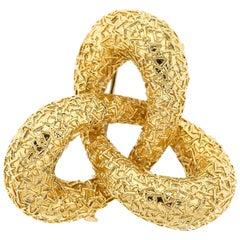 1970sVan Cleef & Arpels 18 Karat Yellow Gold Ribbon Brooch