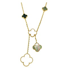 Van Cleef & Arpels Magic Alhambra Necklace Six Motif in 18 Karat Yellow Gold