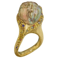 Naomi Sarna Natural Green Pearl Ring