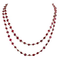 Stunning Ruby and 18 Karat Yellow Gold Necklace