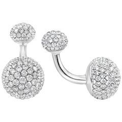 Diamond Encrusted Rounded Face Cufflinks