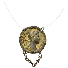Post Medieval French Gold-Gilded Bronze Necklace