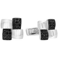 Black Diamond Square Face Cufflinks