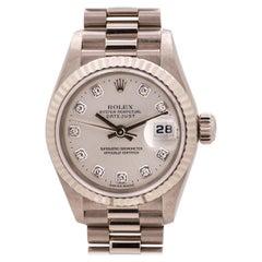 New Old Stock Lady Rolex President Ref 79179 18 Karat White Gold, circa 1999