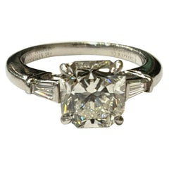 Tiffany & Co. Lucida Diamond Ring, Set in Platinum with Tapered Baguettes