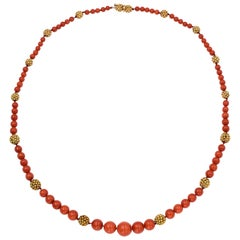 Van Cleef & Arpels Coral Necklace