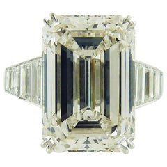 GIA Certified 11.63 Carat Emerald Cut Diamond Engagement Ring