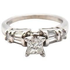 Princess Cut 0.40 Carat Diamond Platinum Engagement Ring