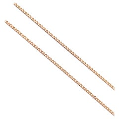 18 Karat Solid Yellow Gold Curb Chain Necklace