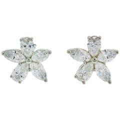 Tiffany & Co. Victoria Diamond Platinum Earrings Studs